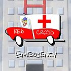 Red Cross Truck - Emergency by Dennis Melling