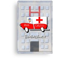 Red Cross Truck - Emergency Canvas Print
