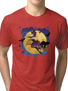 Witch and Full Moon 5 Tri-blend T-Shirt