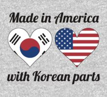 Made In America With Korean Parts Kids Tee