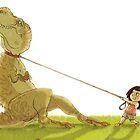 Dinosaur Bathtime by Stieven Van der Poorten