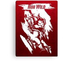 Run Wild (White/Red) Canvas Print