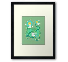Flower power plant Framed Print