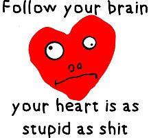 Stupid Heart Photographic Print