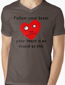 Stupid Heart Mens V-Neck T-Shirt