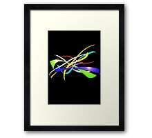 Color Nine Ribbon Framed Print