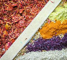 Colorful Spices in Antalya, Turkey by Robert Kelch, M.D.