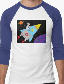 Rocket to Outer Space Men's Baseball ¾ T-Shirt