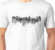 Amsterdam skyline in black watercolor Unisex T-Shirt