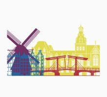 Amsterdam skyline pop Kids Clothes