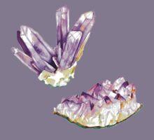 Amethyst Crystal and Geode Kids Tee