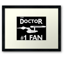 The Doctor #1 Fan Framed Print