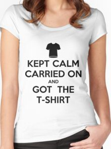 Kept calm Women's Fitted Scoop T-Shirt