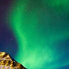 Gruvefjellet in Polar Lights by Algot Kristoffer Peterson