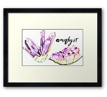 Amethysts With Text Framed Print