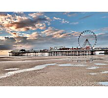 Sunset over South Pier Photographic Print