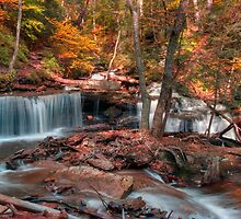 Autumn Scene at Delaware Falls by Gene Walls
