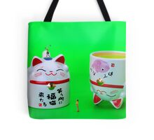Playing golf on cat cups Tote Bag