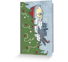 Krampus and St. Nicklaus Greeting Card