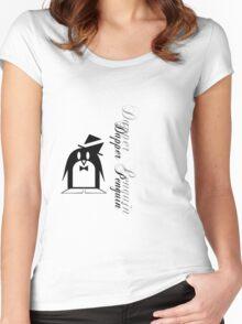Dapper Penguin Women's Fitted Scoop T-Shirt