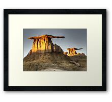 Bisti/De-Na-Zin Wilderness Golden Wings Framed Print
