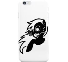 Rainbow Dash With A Gasmask iPhone Case/Skin