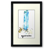 Aquamarine with Text Framed Print