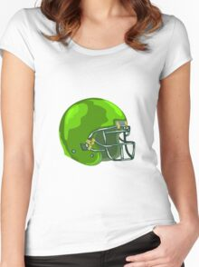 American Football Helmet Green WPA Women's Fitted Scoop T-Shirt