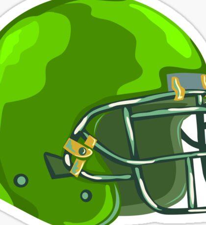 American Football Helmet Green WPA Sticker