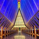 Air Force Academy Chapel Colorado Springs by Bob Christopher