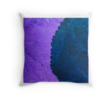 Abstract ice & leaf 3 Throw Pillow