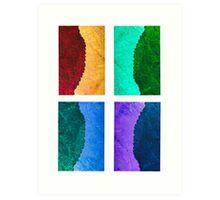 Abstract ice & leaf 5 Art Print