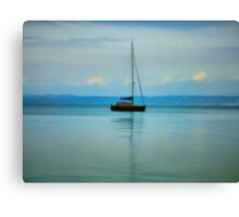 Still water with Yacht Canvas Print