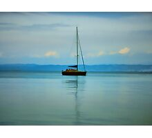 Still water with Yacht Photographic Print