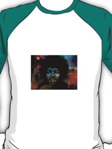 Jimi Hendrix in space fan art T-Shirt