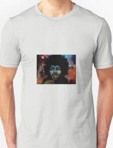 Jimi Hendrix in space fan art T-Shirt