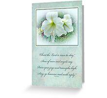 Easter Greeting Card - White Amaryllis Greeting Card