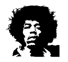 Jimi Hendrix black and white by artkid