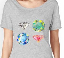 Watercolor Diamonds – April Birthstone Women's Relaxed Fit T-Shirt