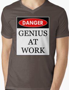 Danger - Genius at work Mens V-Neck T-Shirt