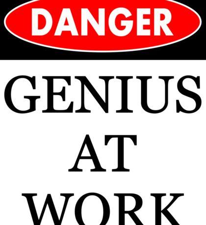 Danger - Genius at work Sticker