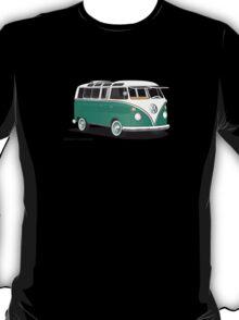 21 Window VW Bus Green T-Shirt