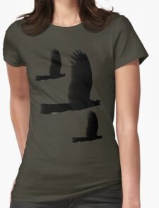Black Cockatoos Womens Fitted T-Shirt