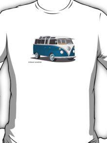 21 Window VW Bus Tuerkis T-Shirt