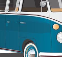 21 Window VW Bus Tuerkis Sticker