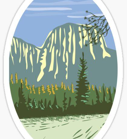 El Capitan Granite Monolith Oval WPA Sticker