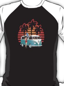 21 Window VW Bus Teal with Girl T-Shirt