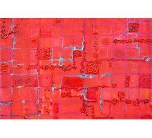 Crimson Query Photographic Print