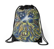 Tardis in Time Wortex Explosion Drawstring Bag
