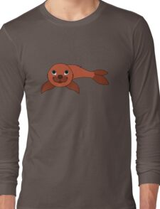 Red Baby Seal Long Sleeve T-Shirt